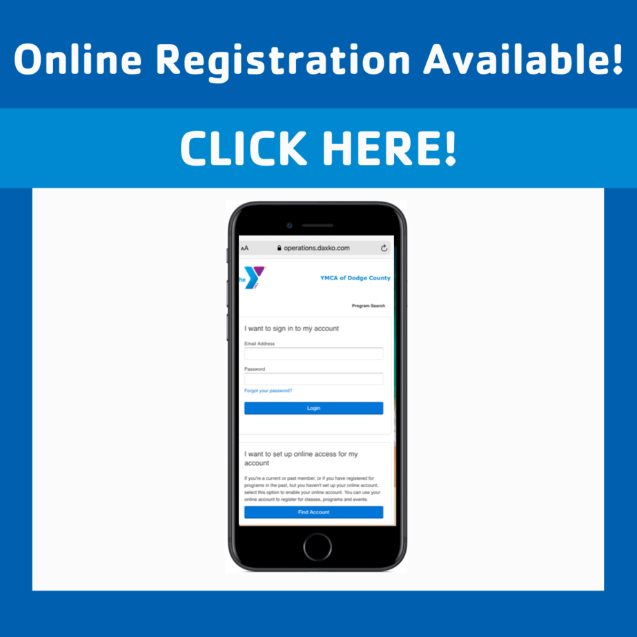 New Online Registration - Click here!